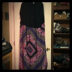 Black and multi colour 4× dress